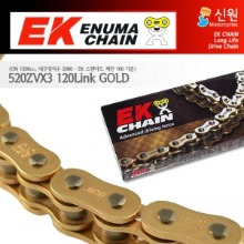 Enuma Chain EK체인 520 Narrow Quadra-X-Ring 체인 520ZVX3-120L-골드