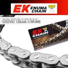 Enuma Chain EK체인 525 Narrow Quadra-X-Ring 체인 525ZVX3-120L-크롬