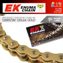 Enuma Chain EK체인 520 Slim Quadra-X-Ring 체인 520RR/SM-120L-골드