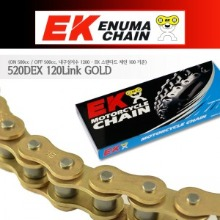 Enuma Chain EK체인 520 Quadra-X-Ring 체인 520DEX-120L-골드